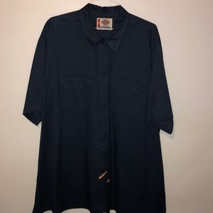 DICKIES NAVY BLUE BUTTON DOWN